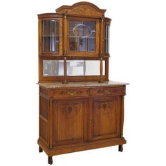 Buffet Cabinet Kitchen Cabinet Antique, 1920s Made of Solid Oak