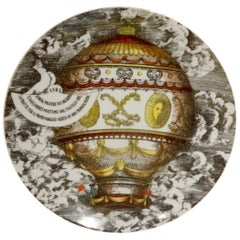 Piero Fornasetti Dinner Plate Mongolfiere, Plate No 2
