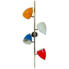 Italian Modern Multi-Color Four-Light Wall Light Sconce in Stilnovo Manner