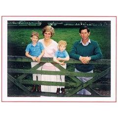 Princess Diana & Prince Charles Autographed Greetings Card