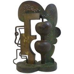 Bronze Sculpture Signed by César Bailleux, Belgium, 1974