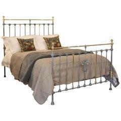 Blue Verdigris Brass and Iron Bed MK153