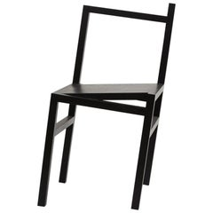 Contemporary 9.5° Chair in Black Stained Ash