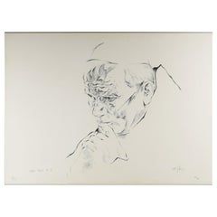 Ernst Guenther Hansing, Study of Pope John Paul II, Lithograph, 1980