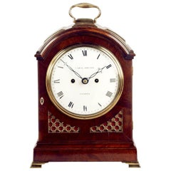Regency Mahogany Arched-Top Bracket Clock by Cade & Robinson, London