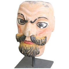 19th Century Carved Fairground Head by Emmanuel Fremiet