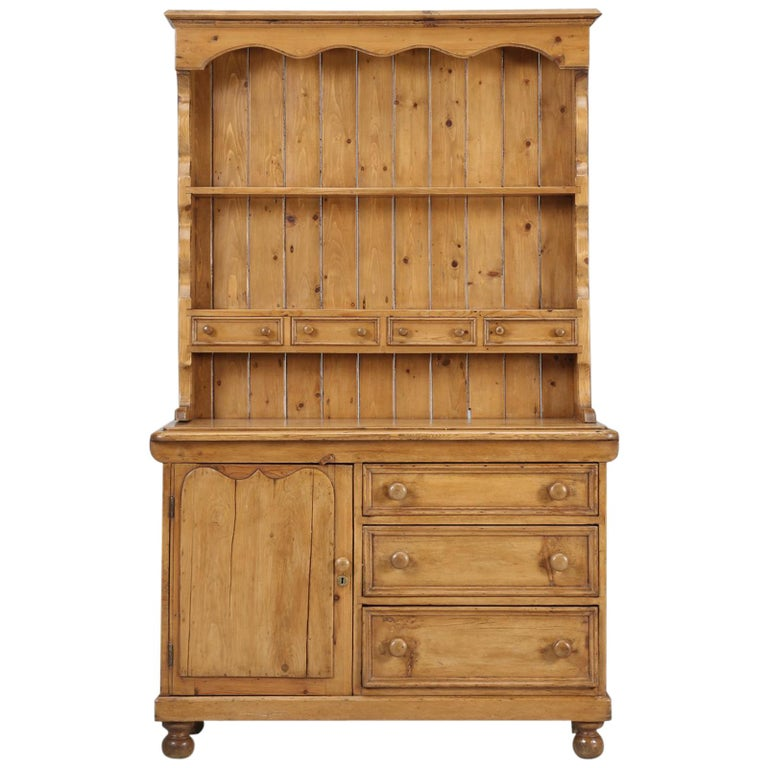 Antique Pine Hutch, Dresser or Cabinet For Sale - Antique Pine Hutch, Dresser Or Cabinet For Sale At 1stdibs