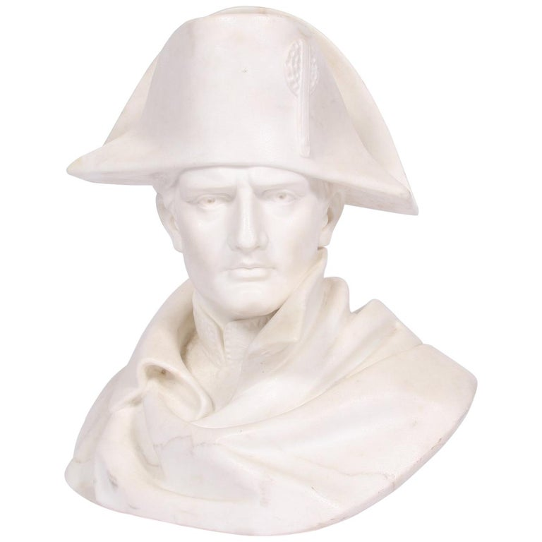 Lifesize Carrara Marble Portrait Bust of Napoleon Bonaparte