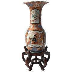 Imari Porcelain Vase with Stand