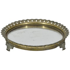 French Brass and Mirrored Plateau, Mid-19th Century