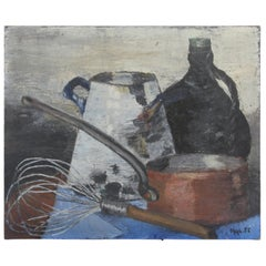 French Still Life Painting, Oil on Canvas