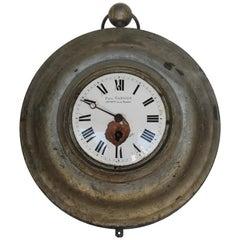 Antique French Zinc Clock, Paul Garnier, Hger Mcien de la Marine