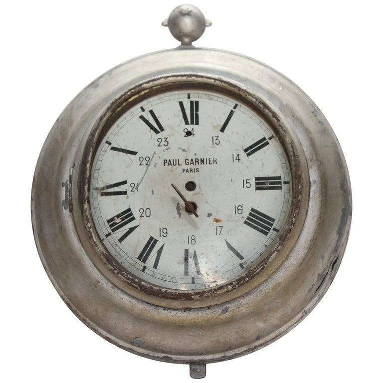 Antique French Zinc Clock, Paul Garnier Paris