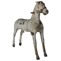 19th Century Swedish Wooden Toy Horse