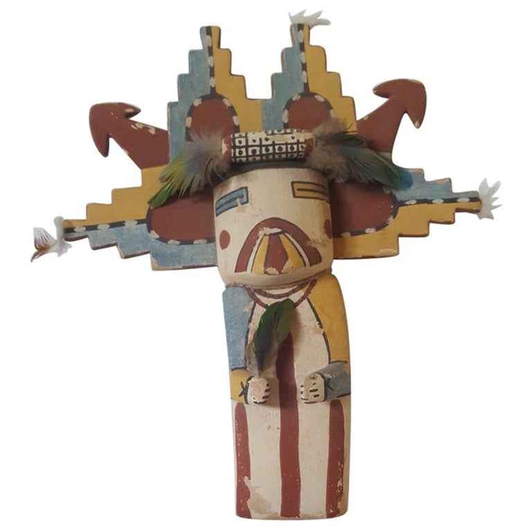 Large Carved And Painted Hopi Kachina Doll Circa 1950s At 1stdibs