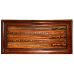 19th Century French Carved Walnut Wall Hanging Billiard Abacus or Boulier