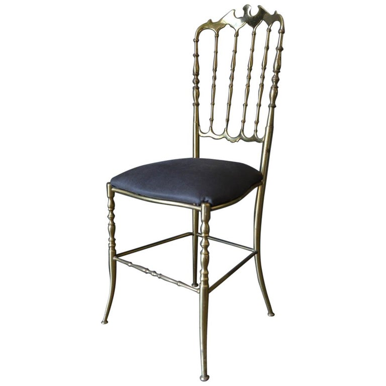 Italian Brass Chiavari Chair, circa 1950