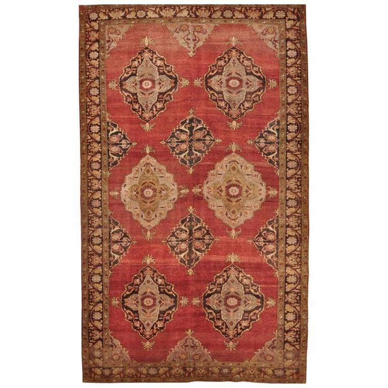 Vintage Hand Knotted Wool Turkish Rug