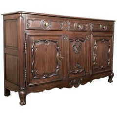 Early 19th Century French Provencal Louis XV Style Oak Enfilade