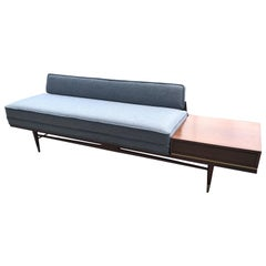 Mid-Century Modern Sofa with End Table