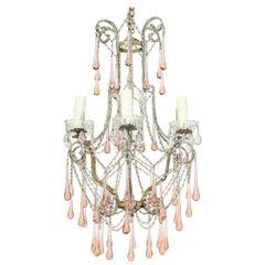 Vintage Italian Crystal Beaded Chandelier