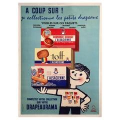 Original Vintage Poster, L'alsacienne by Herve Morvan, 1963