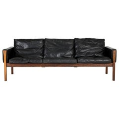 "Leather ""CH 163"" Sofa by Hans J. Wegner"