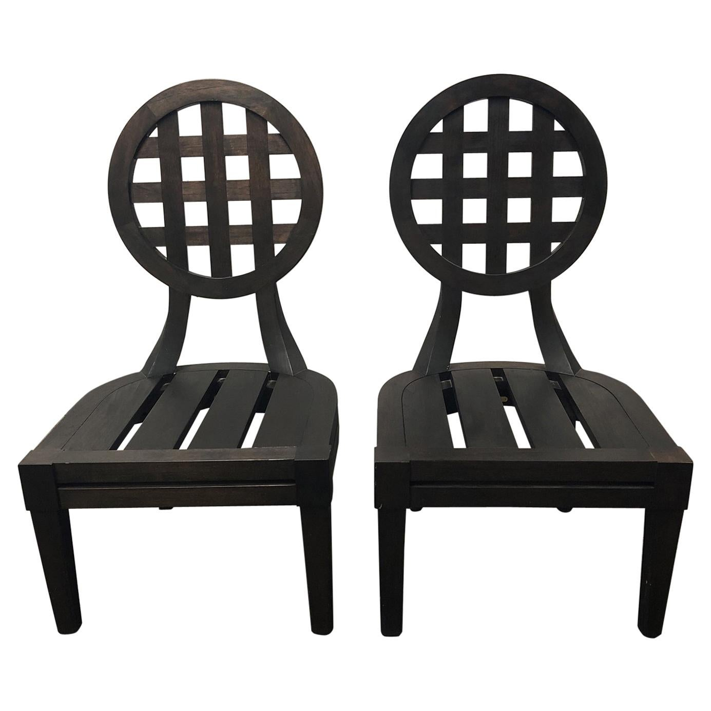 Pair Of Portico Side Chairs By Orlando Diaz Azcuy For McGuire
