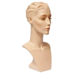 Exclusive Gypsum Mannequin Bust for Necklaces, Art Deco, Austria, 1950s