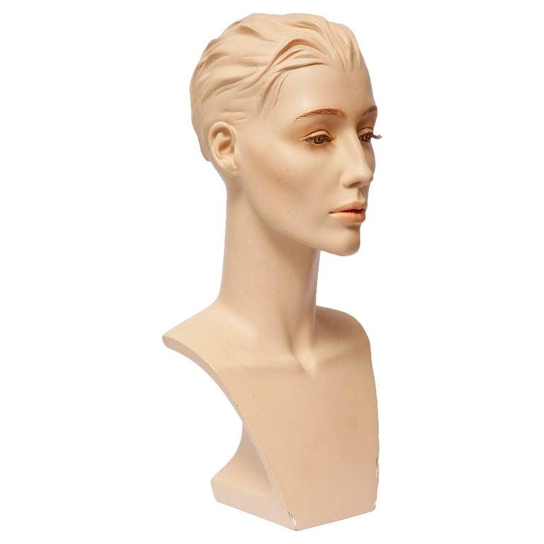 Exclusive Gypsum Mannequin Bust for Necklaces, Art Deco, Austria, 1950s