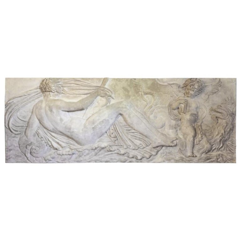 Large Plaster Plaque Relief after Jean Goujon, Reproduced by the Louvre Museum