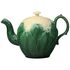 Staffordshire Creamware Pottery Cauliflower Teapot Period, circa 1760, English