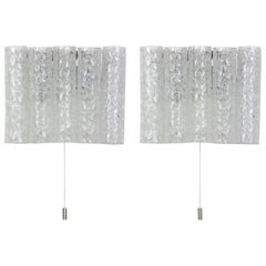 Pair of Murano Glass Wall Sconces by Doria, Germany, 1960s