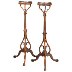 Elegant and Unusual Pair of 19th Century Torcheres