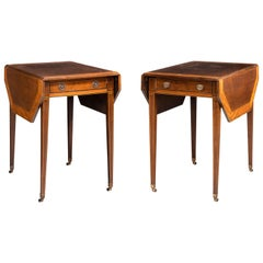 Pair of George III Period Mahogany Pembroke Tables by Gillows of Lancaster
