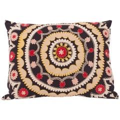 Antique Suzani Cushion Cover Made from an early 20th century Samarkand Suzani