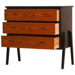 1960s, Teak Small Chest of Drawers by Gyllenvaans Möbler, Sweden