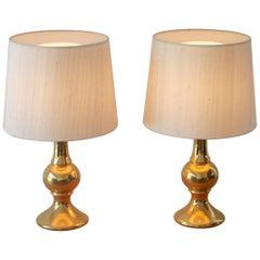 Glass Table Lamps by Uno Och Östen Kristiansson, Luxus, Sweden
