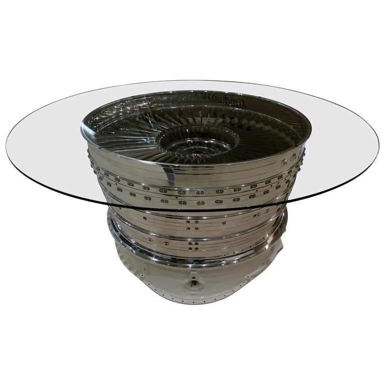 Rolls Royce Jump Jet Rotating Turbine Dining / Conference Table