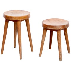 Pair of Pierre Jeanneret & Charlotte Perriand Stool