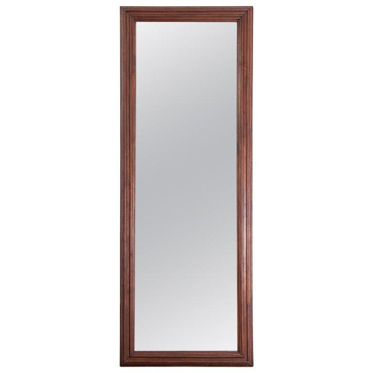 19th Century Walnut Framed Mirror