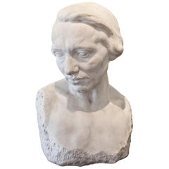 Sculpture of a Female Head, circa 1900