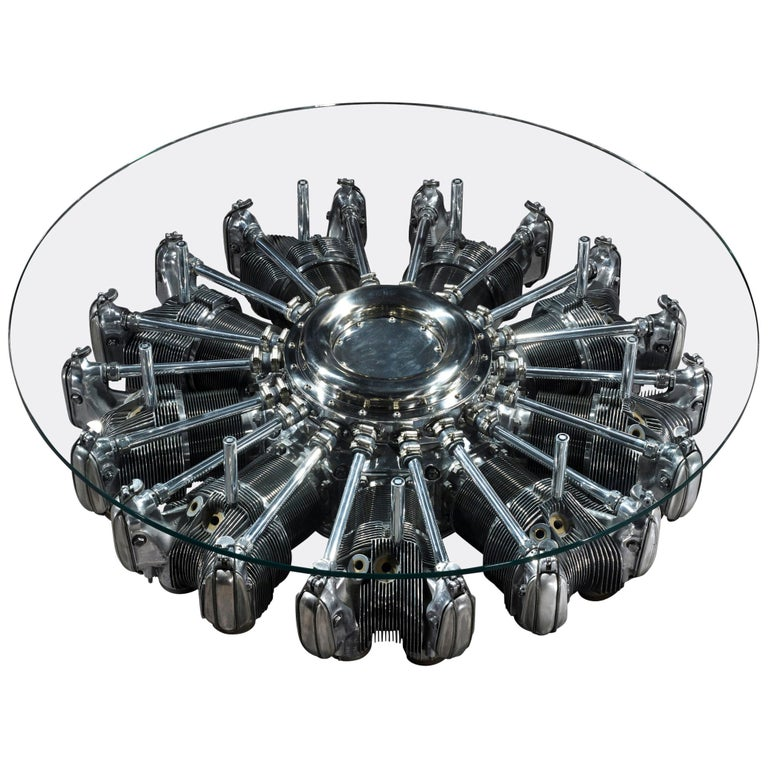 Radial Aircraft Engine Coffee Table