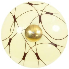 Black and White Ceiling Light from 1960s