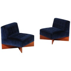 "Pair of ""Capitole"" Easy Chairs by Pierre Guariche, 1960s"