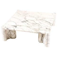 "Gae Aulenti, ""Jumbo"" Carrara Marble Coffee Table for Knoll, 1964"