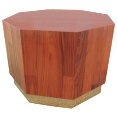 Mid-Century Modern Octagonal Coffee Table in the Manner of Probber
