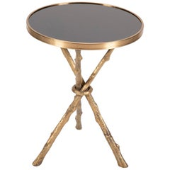 Regency Style Bronze and Black Marble Side Table