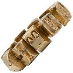 Line Vautrin Les Sept Péchés Capitaux Gilded Bronze Armband, Bracelet