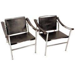 Pair of Early Le Corbusier LC1 Sling Chairs, circa 1950